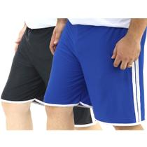 Kit 2 Shorts Masculinos Plus Size Esporte Sport Futebol - Brigades Du Tigre