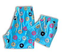 Kit 2 Shorts Namorados Casal Praia Moda Verão feminino masculino simpsons estampado secagem rápida combinando donuts - Mayamoda