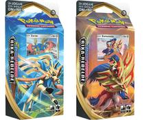 Kit 2 Starter Deck Pokémon Zamazenta e Zacian Rixa Rebelde - Copag