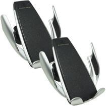 Kit 2 Suporte Carregador Veicular Carro Celular Wireless S/ Fio QI Turbo Sensor Next Trading S5 3375 -