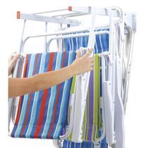 Kit 2 Suporte Multiuso Parede 2 Hastes Dobrável Secalux 0181200 Pendurar Bicicleta Cadeira Escada -