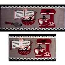 Kit 2 tapetes Cozinha 100% Polipropileno J Serrano 40x60cm / 40x120cm Batedeira -