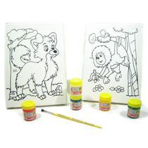 Kit 2 Telas - Lobo-guará / Mico-leão - Kits for Kids -