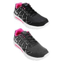 Kit 2 Tênis Jogger Zeus Feminino Leve Confortável Caminhada -