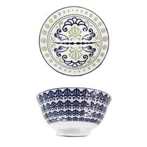 Kit 2 Tigelas Bowl Cumbuca Porcelana 600 ml Luxo Importada Venezia CH1351-6 / 03 - Santa cecilia
