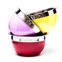 Kit 2 tigelas bowl de inox 18cm cores sortidas - DASSHAUS