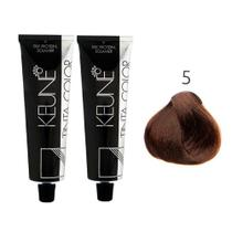Kit 2 Tintas Keune Color 60ml - Cor 5 - Castanho Claro -