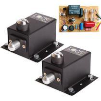 Kit 2 Travas Eletromagnética E Módulo Temporizador Potência - Ipec