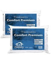 Kit 2 Travesseiro Alto Comfort em Fibra de Silicone - Lar Conforto -
