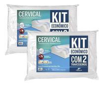 Kit 2 Travesseiro Cervical Ortopédico Lavável Fibrasca -