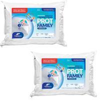 Kit 2 Travesseiro higienizável e desinfetável Prot Family Impermeável Fibrasca -