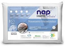 Kit 2 Travesseiro Nasa Nap Perfil Baixo 10cm Capa Algodão -