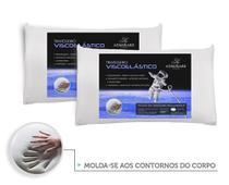 Kit 2 Travesseiros Antialergico Viscoelastico Nasa  Admirare -