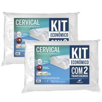 Kit 2 Travesseiros Cervical Performance de Látex - Fibrasca -