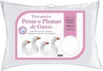 Kit 2 Travesseiros Daune Penas E Plumas De Ganso - Linda Casa