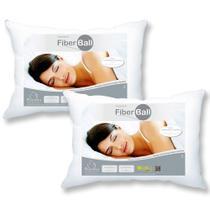 Kit 2 Travesseiros Fiber Ball 50x70 Plooma -