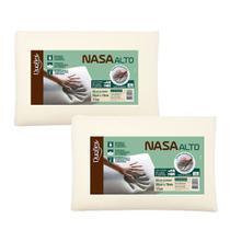 Kit 2 Travesseiros NASA Alto Viscoelástico Duoflex 17cm -