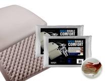 Kit 2 Travesseiros Nasa Double Comfort - Fibrasca -