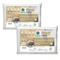 Kit 2 Travesseiros Nasa Premium Nap Home Capa Impermeável - Altura 16cm -