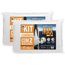 Kit 2 Travesseiros Nasa UP Max Altura 14cm - Fibrasca