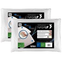 Kit 2 Travesseiros Nasa Viscoelástico Fibrasca Antiácaro para Dormir UP 3