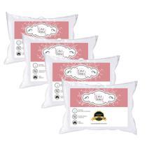 Kit 2 Travesseiros Plumas de Ganso 200 Fios Toque Suave Sono Tranquilo Casa Dona Oferta! -