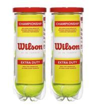Kit 2 Tubos de Bolas de Tênis Championship - Wilson -