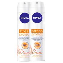Kit 2 UN Desodorante Nivea Stress Protect Aerosol -