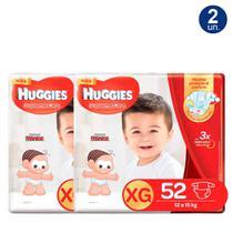 Kit 2 UN Fralda Huggies Supreme Care Tamanho XG Pacote Hiper com 52 Fraldas Descartáveis - Turma Mônica/Huggies