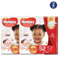 Kit 2 UN Fralda Huggies Supreme Care Tamanho XXG Pacote Hiper com 52 Fraldas Descartáveis - Turma Mônica/Huggies