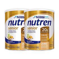 Kit 2 UN Nutren Senior Sem Sabor Suplemento Alimentar 370g -
