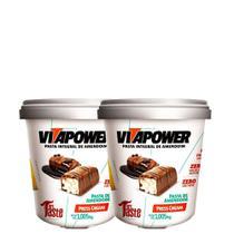 Kit 2 Un Pasta de Amendoim 1,005kg Press Cream VitaPower -