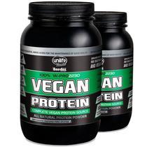 Kit 2 Vegan Protein 900g Proteína vegetal Unilife Chocolate -