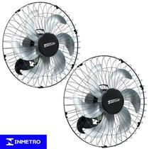 Kit 2 Ventiladores Parede 50cm 110V 127V 220W Industrial Turbo Turbão 6 Pás Vitalex OP50AP110 Preto -