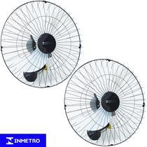 Kit 2 Ventiladores Parede 60cm110V 127V 200W Industrial Turbo Turbão 3 Pás Vitalex OP60AP110 Preto -