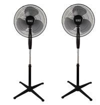 Kit 2 ventiladores total home coluna 43 cm 3 super pás 3 velocidades preto 127v/110v - TAMBEM TENHO