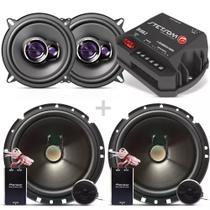 Kit 2 Vias Pioneer + Alto Falantes 5 + Amplificador Stetsom -