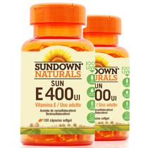 Kit 2 Vitamina E 400 IU Sundown 180 cápsulas - Sundown naturals vitaminas