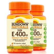 Kit 2 Vitamina E 400 Ui Sundown 100 Cápsulas - Sundown naturals vitaminas
