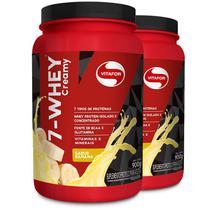 Kit 2 Whey protein 7-Whey Vitafor banana 900g -