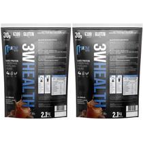 Kit 2 whey protein concentrado 100% 4,2kg HealthTime - Chocolate - Healthtime Nutrition