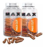 Kit 2 X Termogênicos Max Cut 60 Cps cada Max Titanium -