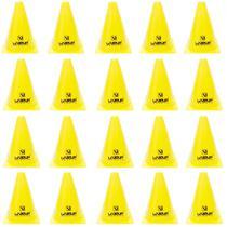 Kit 20 Cones de Agilidade para Treinamento 18 Cm Amarelo  Liveup -