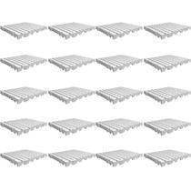 Kit 20 Estrado De Plástico Modular 50x50x5 Cm Branco - Tna Plast