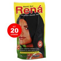 Kit 20 Henê Gel Preto Natural 180g - Embelleze -