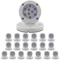 Kit 20 Luminárias Spot LED Base Sobrepor 10W 3000K Iluctron Luz Branca Quente Bivolt Parede Escada -