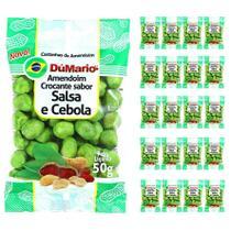 Kit 20 Pacotes Amendoim Crocante Sabor Cebola Salsa 50 gramas - Amendoim dumario