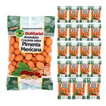 Kit 20 Pacotes Amendoim Crocante Sabor Pimenta Mexicana 50 gramas - Amendoim dumario