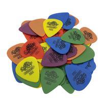 Kit 20 Palhetas  Dunlop Tortex Cores e espessuras variadas para Guitarra, Violão, Ukulele, Cavaco e Baixo -