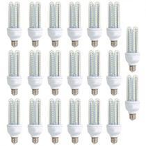Kit 20 pecas - lampada led 3u 9w bivolt branco frio 6500k - Powerxl